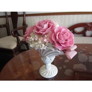 【プリザーブドフラワー】 豪華ピンク色の上品アレンジ 母の日 |yamamotobizyutukan1