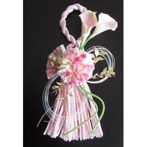 淡いピンクのお正月しめ縄飾り  |yamamotobizyutukan1