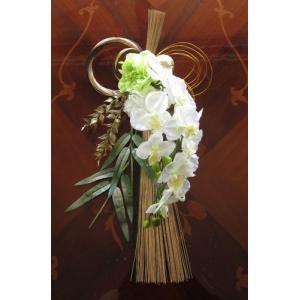 お正月 豪華絢爛 胡蝶蘭のしめ縄飾り |yamamotobizyutukan1