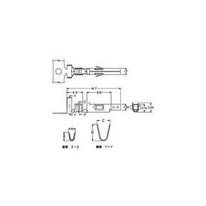 中継用コネクタ 4.2mmピッチ ニューミニフィット ターミナル 5556TL(10個)|yamamotocq