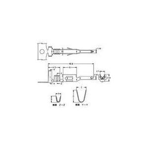 中継用コネクタ 4.2mmピッチ ニューミニフィット ターミナル 5558TL(10個)|yamamotocq