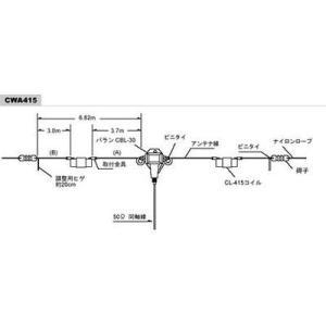 CWA-415 7/21MHz帯ダイポールアンテナセット コメット (COMET)|yamamotocq