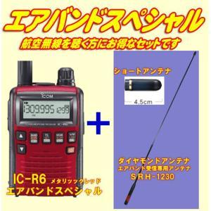 IC-R6メタリックレッド アイコム(ICOM) エアバンドスペシャルセット|yamamotocq