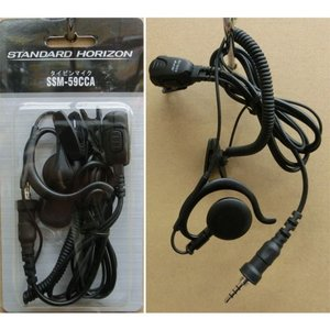 SSM-59CCA 小型タイピンマイク&イヤホン スタンダード(八重洲無線) |yamamotocq