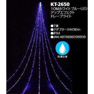 10mホワイトブルーLEDアップエフェクトドレープライト|yamamotoningyou
