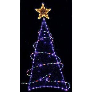 クリスマスツリーチューブライトLEDツリー キラキラクロス|yamamotoningyou