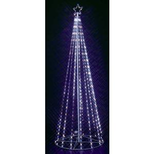 240cmホワイトブルーLEDテープライトタワー|yamamotoningyou