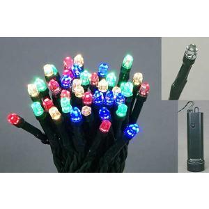 3.5m48球LEDバッテリーライト自動タイマー緑線(マルチ) yamamotoningyou
