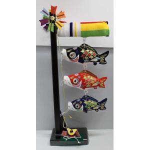 【室内鯉のぼり】ちりめん鯉飾り(特小)兜付|yamamotoningyou