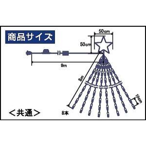 LEDナイアガラライト8m(レインボー) yamamotoningyou 03