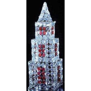 クリスタルビーズモチーフ3連タワー|yamamotoningyou