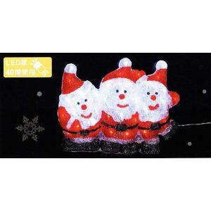 LEDクリスタル壁掛けモチーフ サンタブラザーズ|yamamotoningyou