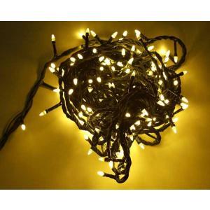 クリスマスツリー200球LED直線ライト ダイヤ型/緑線/シャンパンゴールド yamamotoningyou