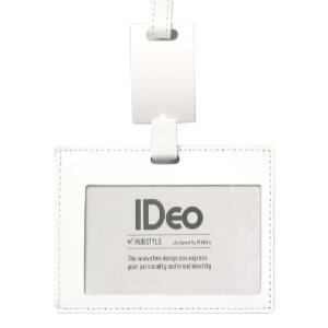IDカードホルダー【牛革】白 IDeo HUBSTYL [ネームカードホルダー/社員証/非接触ICカードケース/伸びるパスケース/アイデオ/ハブスタイル]|yamanaka-inc