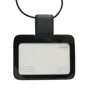 IDカードホルダー トライストラムス/ trystrams SMOOTH 横型 ブラック 非接触ICカードケース/伸びるパスケース|yamanaka-inc