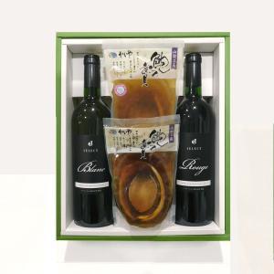 鮑煮貝とワイン2本セット  ギフト, セット, 贈り物, 贈答品|yamanashi-online