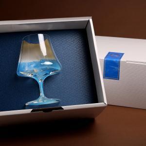 田島硝子 富士山ステムグラス 青い富士山クリームソーダ 青い富士山ビール FUJISAN STEM GLASS ギフトBOX入|yamanashi-online