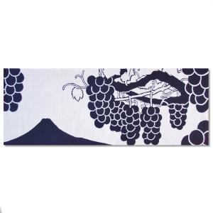 やまなし手ぬぐい「富士山と葡萄」〈巨峰〉|yamanashi-online