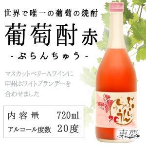 世界唯一の葡萄の焼酎 葡蘭酎(ぶらんちゅう)20 (赤) 720ml  クーポン割引, 東夢, ワイン, ギフト, 贈り物, 贈答品|yamanashi-online