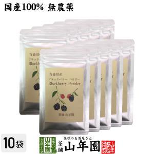 国産100% 青森県産 無農薬 無添加 ブラックベリー粉末 40g×10袋セット キイチゴ ポリフェ...
