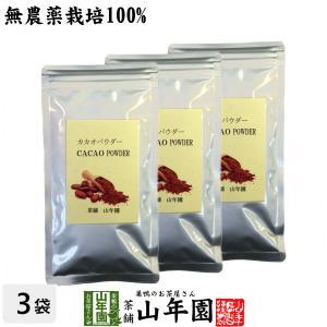 健康食品 無農薬カカオパウダー 粉末 70g×3袋セット ペルー産 無農薬栽培 送料無料