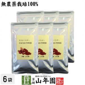 健康食品 無農薬カカオパウダー 粉末 70g×6袋セット ペルー産 無農薬栽培 送料無料