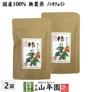 柿の葉茶 30g(1.5g×20パック)×2袋セット 国産 無農薬 鹿児島県産 ノンカフェイン 送料無料 お茶 バレンタイン ギフト プレゼント 内祝い お返し