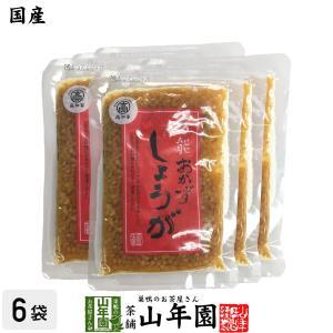 惣菜 おかず生姜 国産 万能おかず生姜 130g×6袋セット 送料無料