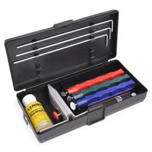 ナイフの種類や用途に応じて研ぐ角度を調節する事が可能な砥石セットです。  錆を防ぐためのホーニングオ...