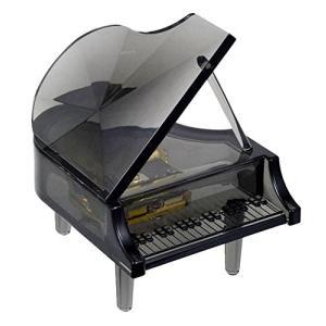 【ヂヤンテイ】LEDライト付オルゴール ピアノブラック G-6304BKB [星に願いを] yamano