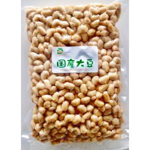 北海道産大豆水煮1kg(国産・無添加・無化学調味料・業務用・大豆・豆・ダイズ/daizu/soybean)とってもやわらか!味噌作りにも最適! yamaryu1970