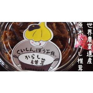 からし椎茸(椎茸辛子漬け)130g 無農薬・無添加【夏季以外は常温発送】