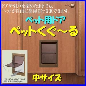 ◆日曜大工で取り付けられる犬(イヌ)・猫(ネコ)用出入口ドアです。  ◆ドアを閉めた状態で犬や猫が自...