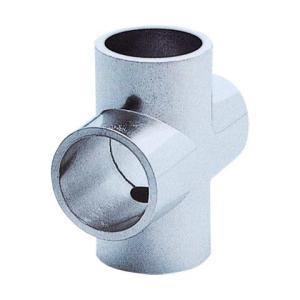 ステンパイプ用パーツ クロス 32ミリ ダイカストクローム   (回転止ビス穴付)|yamasita