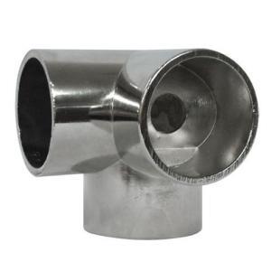 ステンパイプ用パーツ 三方エルボ 32ミリ ダイカストクローム   (回転止ビス穴付)|yamasita