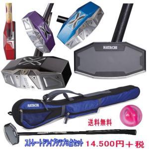 羽立工業 HATACHI グラウンドゴルフクラブセット ハタチ ストレートドライブクラブ BH2856    クラブ  ケース ボール の3点セット 右打者用 |yamasp