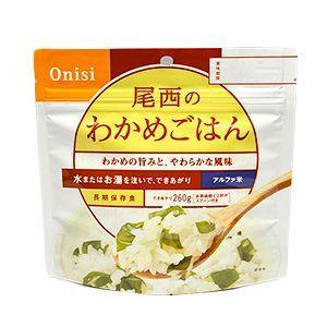 非常食 アルファ米・尾西・わかめごはんの商品画像