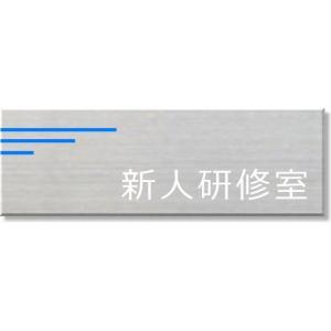 オフィスプレート 新人研修室 ネームプレート 室名札 ステンレス製 20cmx8cm 室名プレート