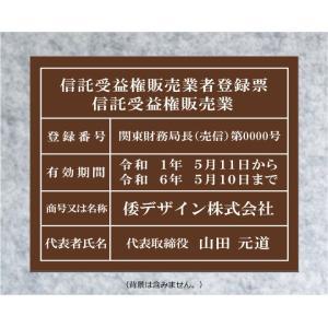 不動産投資顧問業者登録票【アクリル艶消し茶色5mm厚】日本全国にスピード発送。400mmx350mm yamato-design