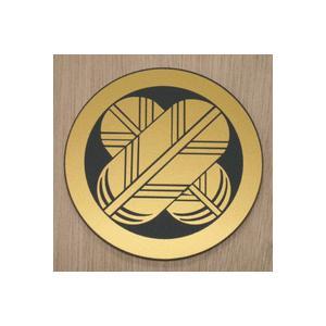丸に違い鷹の羽 家紋エンブレム 5cm  人気の家紋エンブレム 【丸に違い鷹の羽】 アクリル黒色に家紋シールを貼り付けました|yamato-design