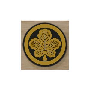家紋エンブレム 20cm 当社販売の家紋シールをアクリルに貼り付け立体感を出しました。  家紋の色を...