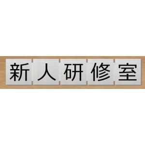 ルームプレート 新人研修室 サイコロ型 【183mmx35mm】 ステンレス製 室名札 ネームプレー...