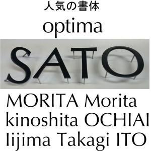 【Optima】ステンレス3mm厚黒色塗装仕上げ切り文字表札 書体【Optima】 お手頃価格です。|yamato-design