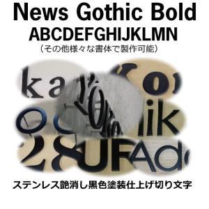 戸建て表札 切り文字 黒色 ステンレス3mm厚 切り文字表札 おしゃれな切り文字 黒色文字 書体【News Gothic Bold】|yamato-design