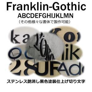 戸建て表札 切り文字 黒色 ステンレス3mm厚 切り文字表札 おしゃれな切り文字 黒色文字 書体【Franklin-Gothic】|yamato-design