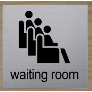 waiting room 室名札 ネームプレート 室名プレート ステンレス製 10cm yamato-design