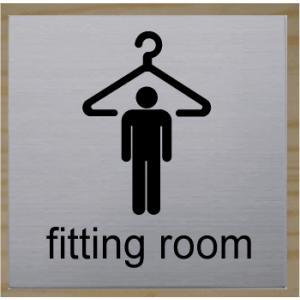 fitting room 室名札 ネームプレート 室名プレート ステンレス製 10cm yamato-design