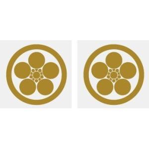 丸に梅鉢 家紋シール 5cm 2枚入り 人気の家紋シール【丸に梅鉢】 家紋だけが貼り付け面に残ります|yamato-design