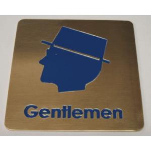 高級エッチングトイレプレート 真鍮製 男性用|yamato-design