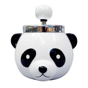 パンダ ターンアシュトレイ(灰皿) AR-1379 スタンド かわいい 卓上 回転式 フタ付 動物 回転灰皿 おしゃれ  H160×W155×D145mm 送料無料|yamato-netshop